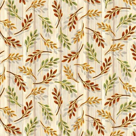 Harvest Elegance by Gina Jane Lee - Leaf Sprigs Natural - Y905 - Daz Fabrics