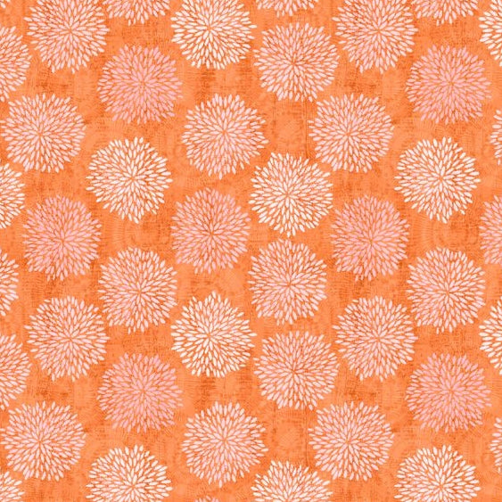 Sing Your Song Collection by Anne Rowan - Floral Silhouettes Orange - Y3594 - Daz Fabrics