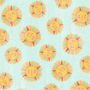 Keep Shining Bright by Anne Rowan - Sun Toss Aqua - Yardage - Daz Fabrics