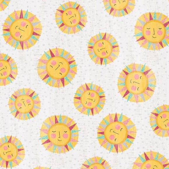 Keep Shining Bright by Anne Rowan - Sun Toss Light Gray- Y2221 - Daz Fabrics