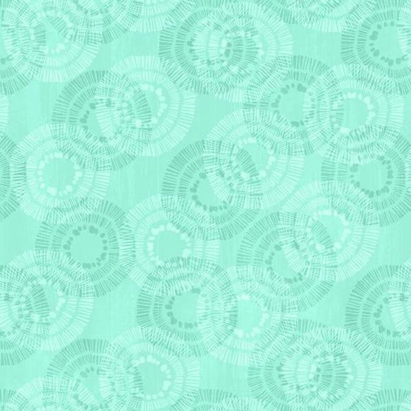 Keep Shining Bright by Anne Rowan - Circle & Dots Aqua - Y2209 - Daz Fabrics