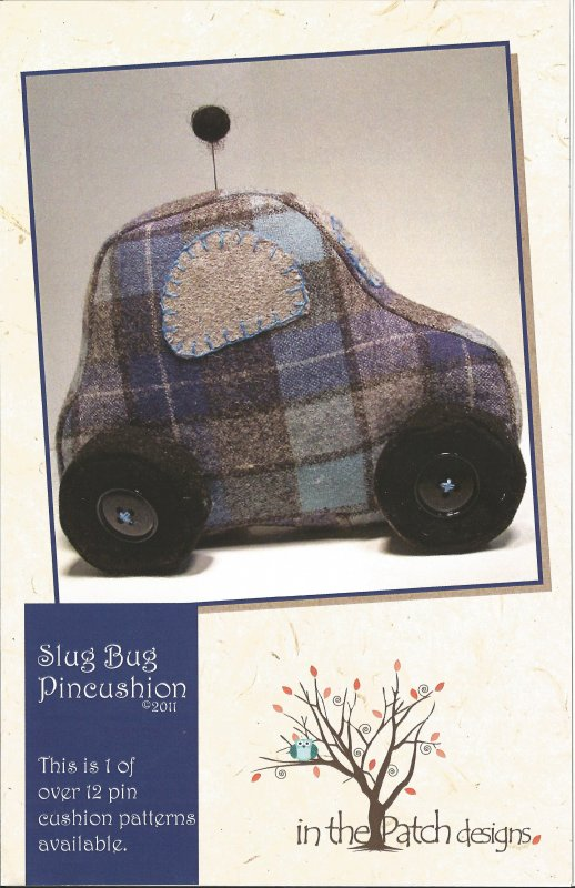 Wool Slug bug Pincushion - Pattern
