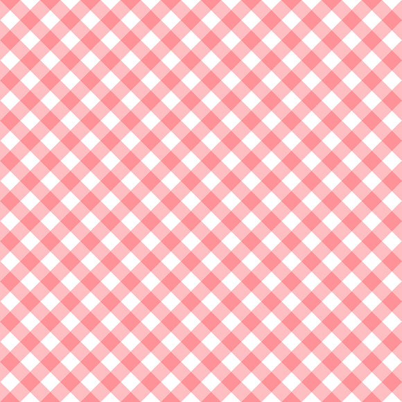 Retro Road Trip Collection - Coral Gingham - Y2263 - Daz Fabrics