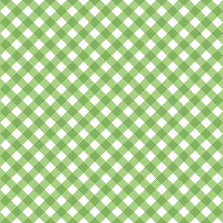 Retro Road Trip Collection - Green Gingham - Yardage - Daz Fabrics
