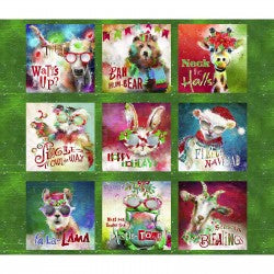 Sassy Holiday by Connie Haley - Digital Print Panel - Multi 36