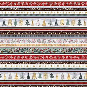 Snowy Magic by Victoria Borges - Frost - Stripe - Y2355 - Daz Fabrics