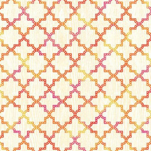 Butterfly Dreams by Jennifer Brinley - Quadrafoil Cream/Pink - Y3502 - Daz Fabrics