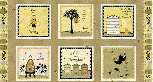 Bee A Keeper Collection by Dt-K Signature - Repeat Block Print - 24