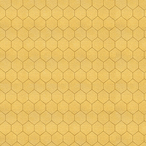 Bee A Keeper Collection by Dt-K Signature - Small Honeycomb Gold - Yardage - Daz Fabrics