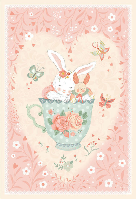 Woodland Tea Time by Lucie Crovatto - Bunny in Teacup 30