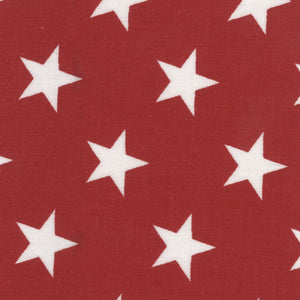 "Patriotic Quiltbacks 108"" - Stars on Red - Y1010 - Daz Fabrics"