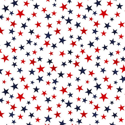 Truckin' In The USA - Mini Stars White - Y1005 - Daz Fabrics