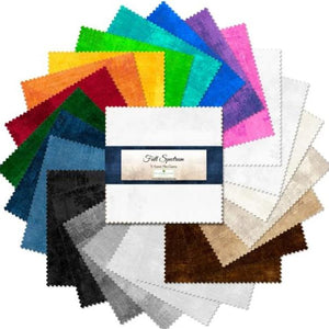 Full Spectrum Collection - Wilmington Prints - 5 Karat Mini Gems - 24 PC Charm Pack - Daz Fabrics