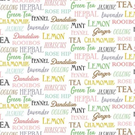 My Cup of Tea by Windham Fabrics - Tea Words White - Y215 - Daz Fabrics