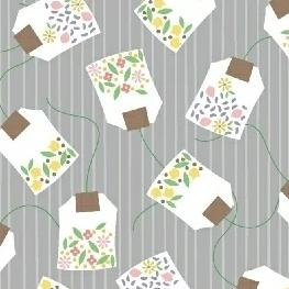 My Cup of Tea by Windham Fabrics - Floral Teabags Earl Gray - Yardage - Daz Fabrics