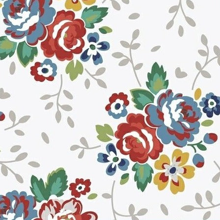 Backyard Blooms by Allison Harris - Blooms White - Y93 - Daz Fabrics