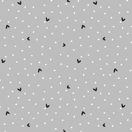 Fiesta Collection by Jill McDonald - Blooming Dots Gray - Y945 - Daz Fabrics