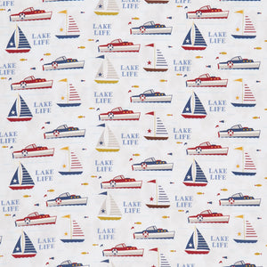 Lake Life by Anne Rowan - Lake Fun Gray - Yardage - Daz Fabrics