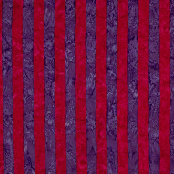 Big Stripe Batiks by Kaffe Free - Spirit - Red - Y302 - Daz Fabrics