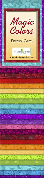 Magic Colors Collection - Wilmington Prints - Essential Gems - 24 PC Jelly Roll P19 KFT - Daz Fabrics