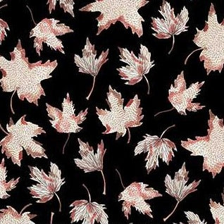 After The Rain by Boccaccini Meadows - Leaves Black - Y878 - Daz Fabrics