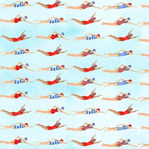 Star Spangled Swimmers by Andrea Tachiera - Yardage - Daz Fabrics