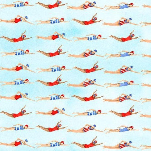 Star Spangled Swimmers by Andrea Tachiera -  Y3428 - Daz Fabrics