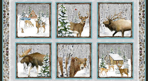 Snowy Woods by Barb Gelotte Tourtillotte - Woods Block Panel - 24