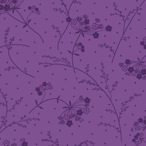 KimberBell Basics - Make A Wish Purple - Yardage - Daz Fabrics