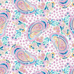Emelia's Dream by Blank Quilting - White Paisley - Y1016 - Daz Fabrics