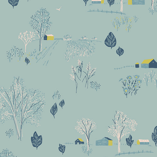 Bountiful Collection by Sharon Holland - Scenic Blue Sky - Y3309 - Daz Fabrics