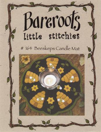 Little Stitchies - Beeskeep Candle Mat- Pattern - Daz Fabrics