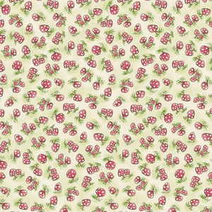 Camp Cricket Collection by Bunnies by the Bay - Mini Mushrooms - Yardage - Daz Fabrics