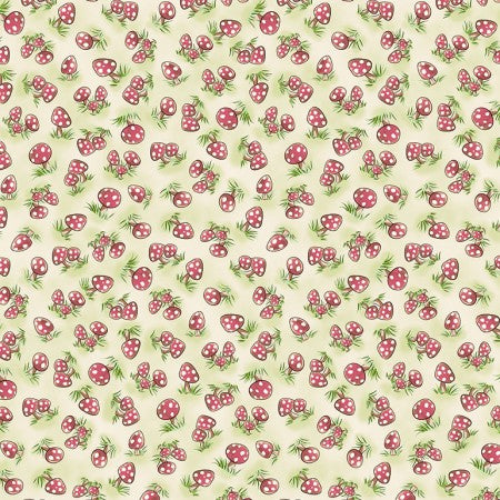 Camp Cricket Collection by Bunnies by the Bay - Mini Mushrooms -  Y3340 - Daz Fabrics