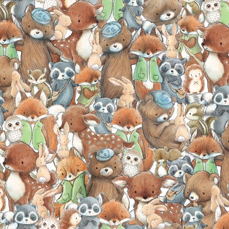 Camp Cricket Collection by Bunnies by the Bay - Forest Friends - Yardage - Daz Fabrics