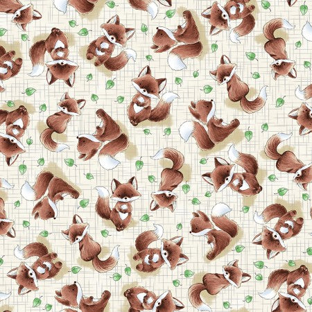 Camp Cricket Collection by Bunnies by the Bay - Foxes - Yardage - Daz Fabrics