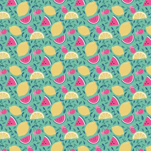 I'd Rather Be Glamping by Dani Mogstad - Fruit Mint - Yardage Y2087KFT - Daz Fabrics