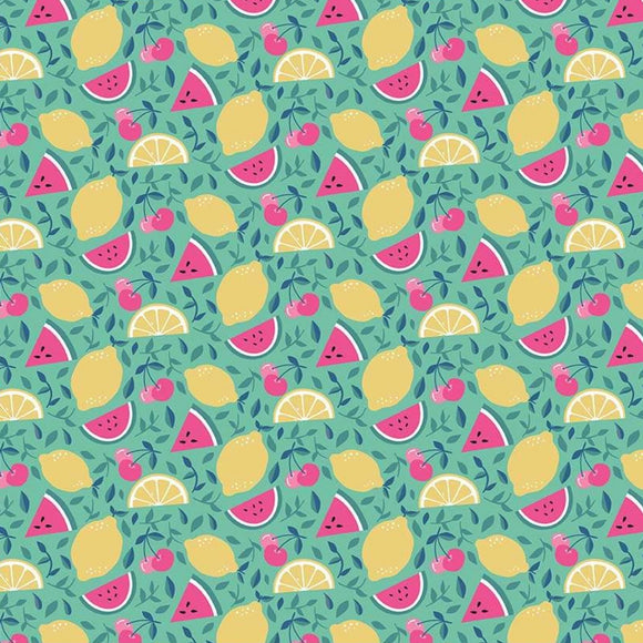 I'd Rather Be Glamping by Dani Mogstad - Fruit Mint - Yardage