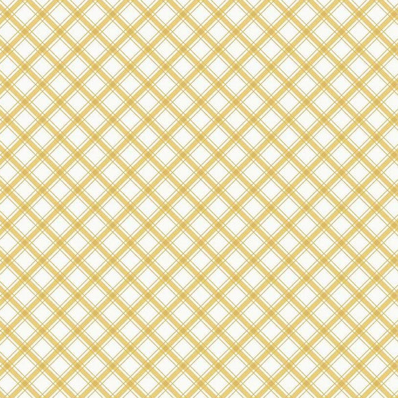 I'd Rather Be Glamping by Dani Mogstad - Plaid Yellow - Yardage - Daz Fabrics