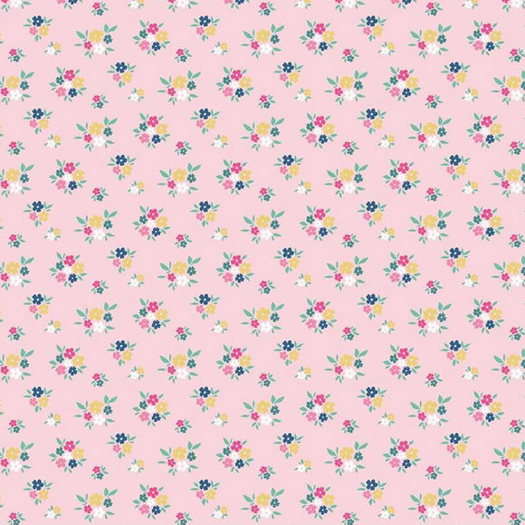 I'd Rather Be Glamping by Dani Mogstad - Floral Pink - Yardage Y2084KFT - Daz Fabrics