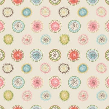 Sew Retro by Sara Davies - Wheels Cream - Yardage L - Daz Fabrics