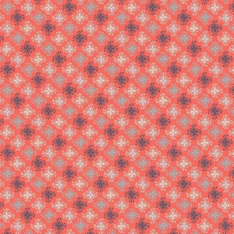 Sew Retro by Sara Davies - Star Flower Red - Yardage - Daz Fabrics