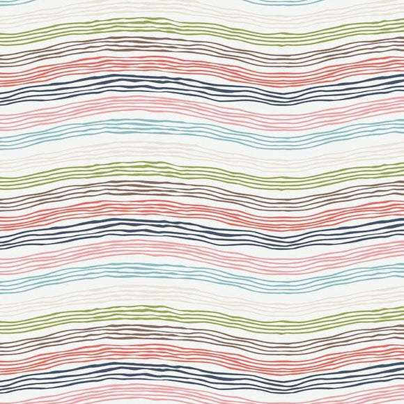 Sew Retro by Sara Davies - Waves Cream - Yardage - Daz Fabrics
