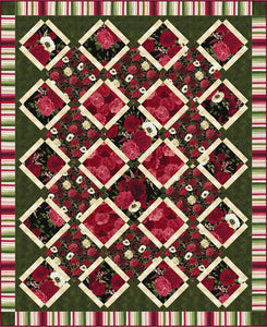 Carina Quilt Pattern - Bloom and Bloom by Osie Lebowitz - Click on RED LINK to Download Pattern in Description Below - Daz Fabrics