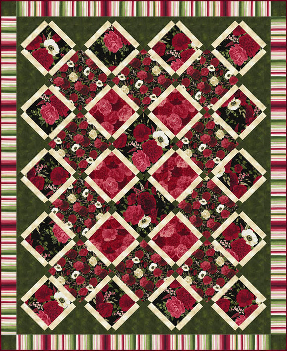 Carina Quilt Pattern - Bloom and Bloom by Osie Lebowitz - Click on RED LINK in Product Description, below Paypal button,  to receive pattern - Daz Fabrics