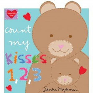 "Huggable & Loveable  - Count My Kisses - 36"" Book Panel - Daz Fabrics"
