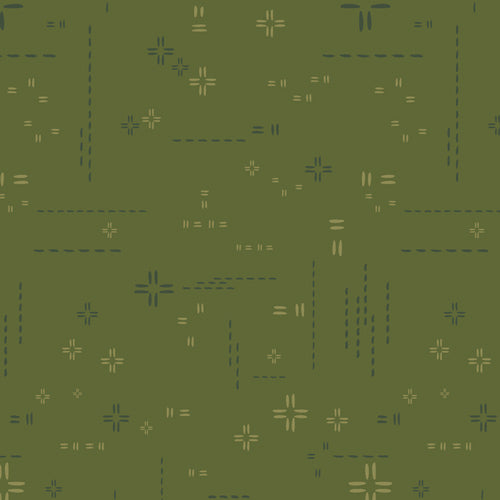 Decostitch Elements Collection by Art Gallery - Morning Moss - Yardage - Daz Fabrics