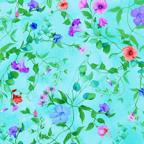 Fairy Fantasy Collection by Chong-a Hwang - Allover Leavy Vines & Blooms - Yardage - Daz Fabrics