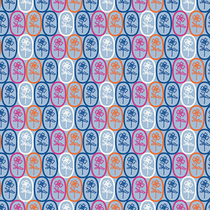 Fiesta Fun Collection by Dana Willard - Florita Azul - Yardage - Daz Fabrics