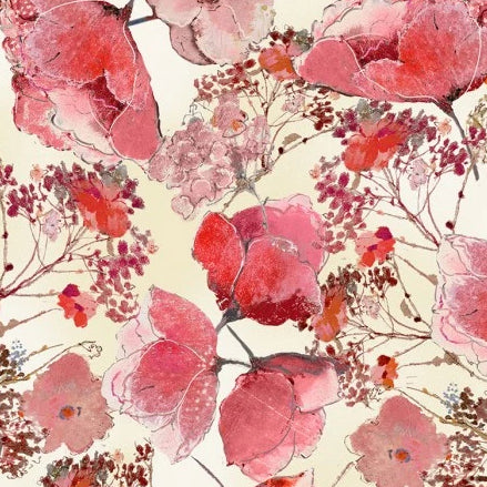Floral Study by Alice Kennedy - Delicate Flower Blooms - Y2272 - Daz Fabrics